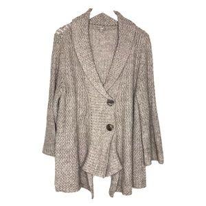 J Jill Shawl Cardigan Sweater Alpaca Wool Drape XL
